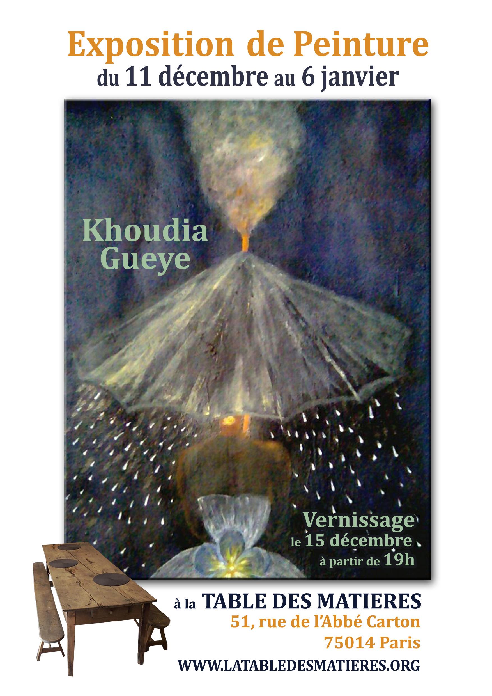 exposition de peinture khoudia gueye la table des mati res. Black Bedroom Furniture Sets. Home Design Ideas