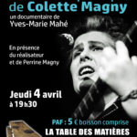 Projection du film sur Colette Magny