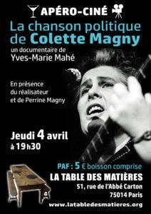 Projection du film sur Colette Magny