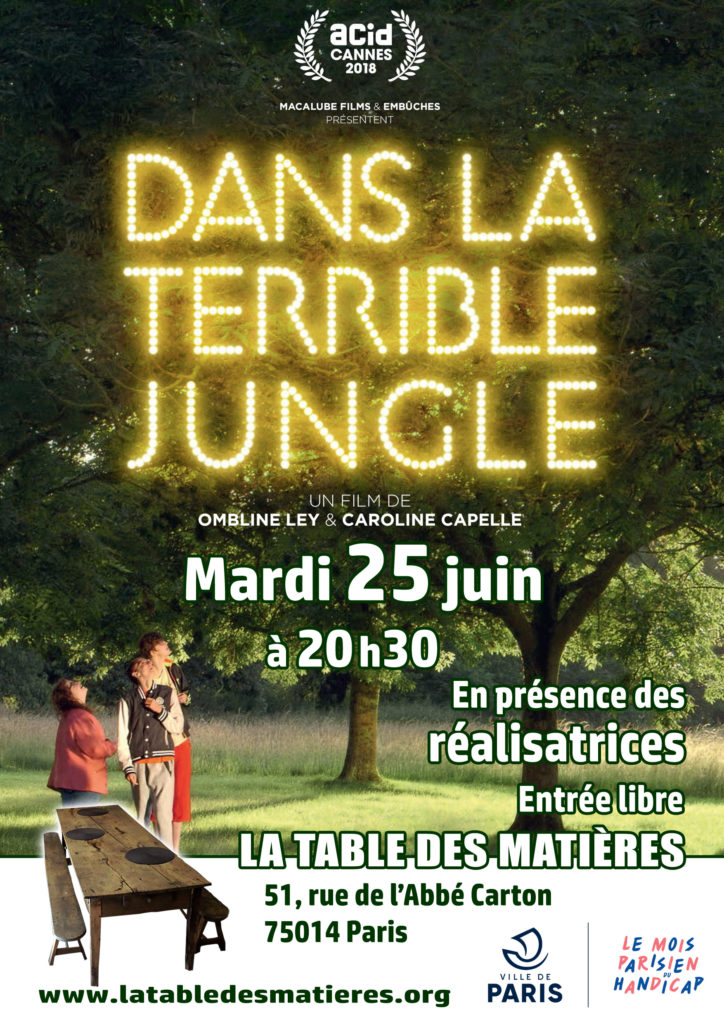 "Affiche : projection ""dans la terrible jungle"""