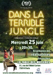affiche projection Dans la terrible jungle